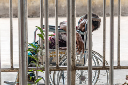 Dhaka, Bangladesh - April 29, 2016: Slum people located  Kamalapur Rail Station