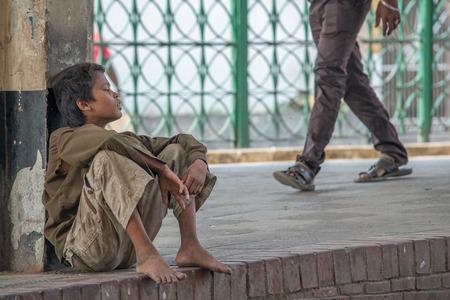 slums: Dhaka, Bangladesh - April 29, 2016: Slum people located  Kamalapur Rail Station