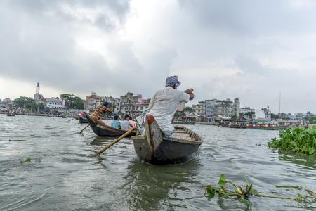 Dhaka, Bangladesh - August 12, 2016: people lifestyle in Sadar Ghat on August 12, 2016 in Dhaka,Bangladesh. Editorial