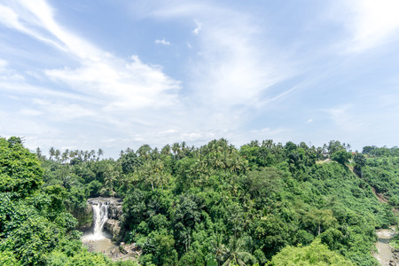Tegenungan Waterfall is one of places of interest of Bali, Indonesia Stock Photo