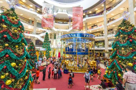 Kualalumpur, Malaysia - December 27, 2016: Shopping mall interior design at Kualalumpur, Malaysia