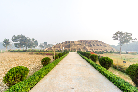 civilisations: Bogra, Bangladesh - February 18, 2017: Mahasthangarh is one of the earliest urban archaeological site so far discovered in Bangladesh. this photo was taken from Bogra, bangladesh.