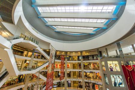 Kualalumpur, Malaysia - December 28, 2016: Shopping mall interior design at Kualalumpur, Malaysia