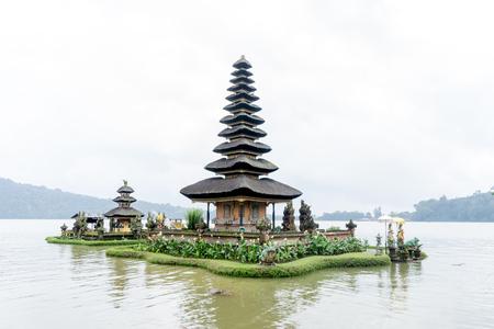 Bali, Indonesia - December 23, 2016: Pura Ulun Danu temple on a lake Beratan in Bali, Indonesia on December 23, 2016.