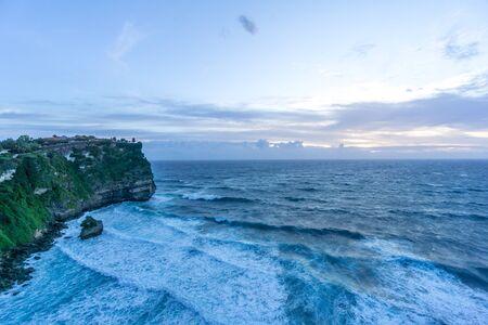 Uluwatu temple in the sea in Bali Indonesia