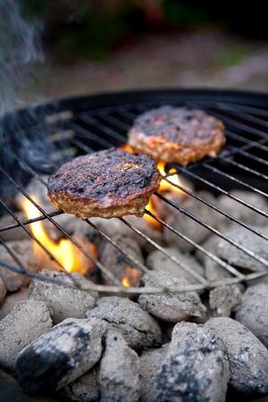 archivio fotografico barbecue cucinare hamburger