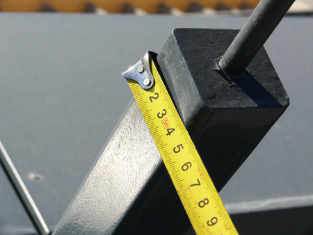 profile measurement: measurement of the dimensions of metal structures on the roof.