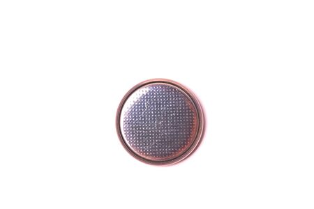 Lithium round battery isolated on white