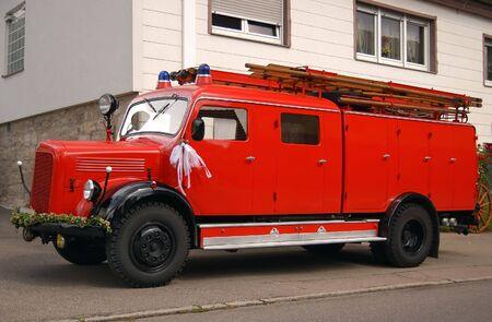 antique fire truck: Antique fire truck