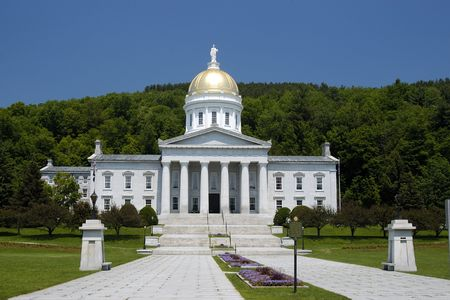 State House. Vermont. Stock Photo