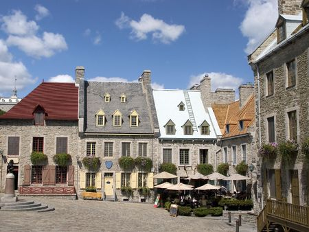 Located in Québec Citys lower town Place Royale  Stock Photo