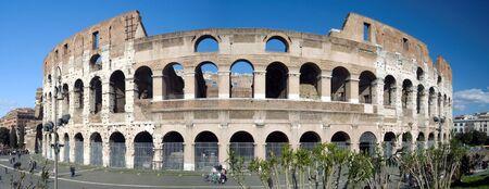 The Colosseum or Roman Coliseum originally the Flavian Amphitheatre (Latin: Amphitheatrum Flavium Italian Anfiteatro Flavio or Colosseo) is an elliptical amphitheatre in the center of the city of Rome Italy the largest ever built in the Roman Empire.