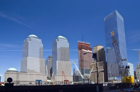 Rebuilding Ground Zero site. Manhattan, NY photo