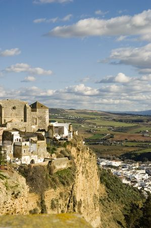 Arcos de la Frontera, a town in the province of Cádiz in southern Spain.