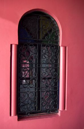 Iron Window in the old part of Tangier.