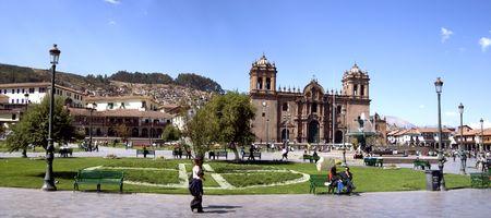 Cusco, Peru, September 2008 - The Plaza de Armas