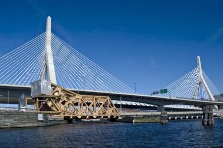 Zakim bridge. Boston Stock Photo