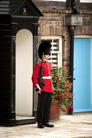 London, England - September 18, 2011: the soldier provides the guard outside the Queen