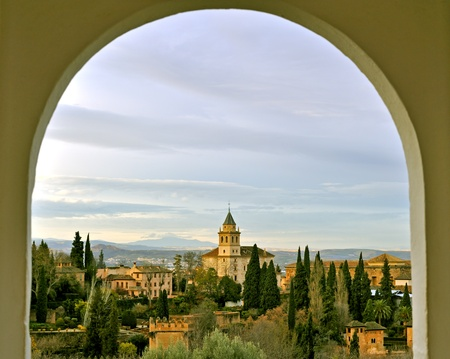 View of Alhambra fortress in Granada, Spain Stock Photo