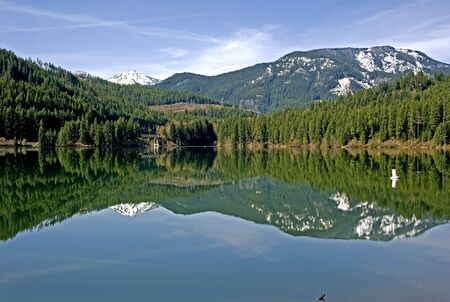 crescent lake: Lake Crescent at Snoqualmie Pass in Washington State