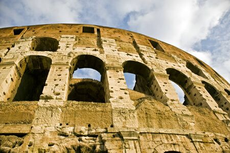 Ancient Amphitheather Coliseum in Rome  Italy  Reklamní fotografie