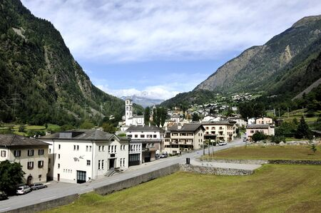 A small town in the picturesque Swiss Alpes