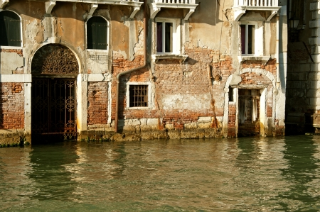 View of back street in Venice photo