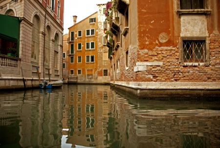 View of back street in Venice