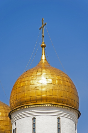 A gold dome of the Ivan the Great Bell Tower