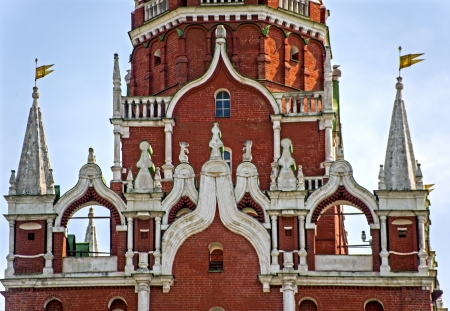 Detail of a tower of Moscow Kremlin