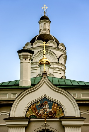 orthodox church: Detail of Orthodox church  Moscow, Russia
