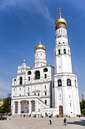 Moscow, Russia - May 7, 2010  Visitors are exploring museums and cathedrals of the Moscow Kremlin