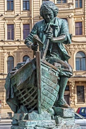 tsar: The monument to Peter the Great  Tsar Carpenter   Editorial