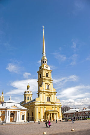 Peter and Paul Fortress at Cathedral in St  Petersburg, Russia