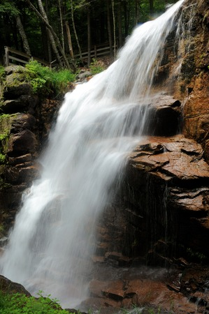 notch: Avalanche Falls in the Flume Gorge, Franconia Notch State Park