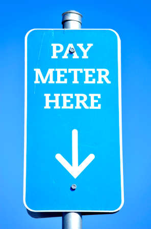 pay meter sign