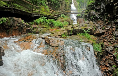 notch: Avalanche Falls in the Franconia Notch State Park