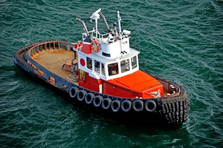 Tugboat: Tugboat in Alaska Stock Photo