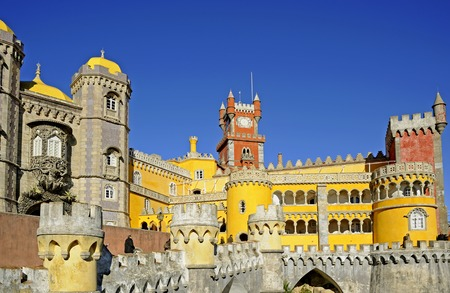 neo gothic: Pena National Palace. Sintra, Portugal