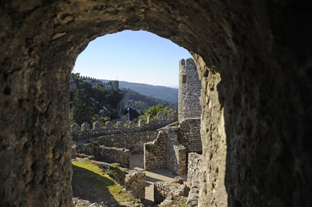 moors: The Castle of the Moors in Sintra, Portugal Editorial
