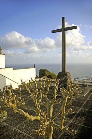 campo: Town of Vila Franca do Campo Sao Miguel island Azores