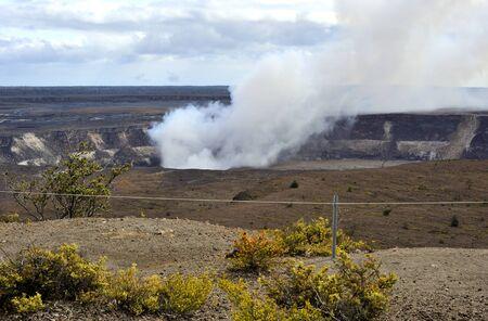 erupting: Erupting crater, Hawaii Volcanoes Park Stock Photo