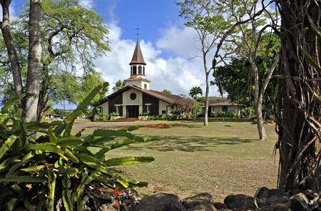 Oahu: Liliuokalani Church,  Oahu, Hawaii Stock Photo