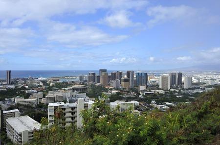 honolulu: View of City of Honolulu from the Diamond Head