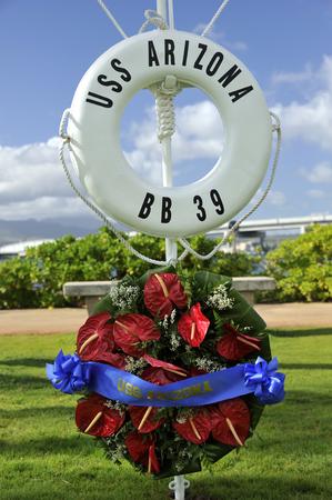 USS Arizona sign