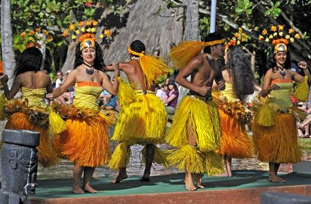honolulu: Hawaiian dance at the Polynesian Cultural Center in Honolulu Editorial