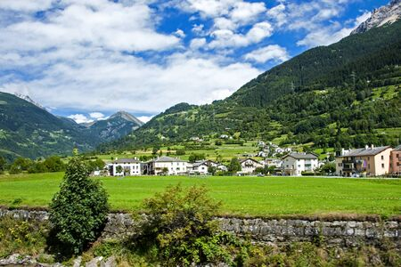 swiss culture: a small village in the picturesque Swiss Alps.