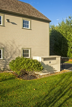 standby: Residential standby generator Stock Photo