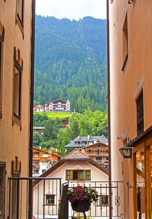 gardena: Ortisei in Val Gardena Italy Stock Photo