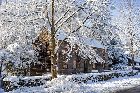 snow storm: New England, after snow storm